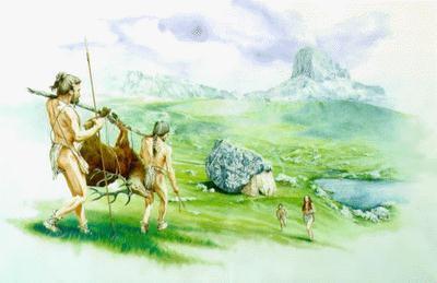 Imagem do período Mesolítico