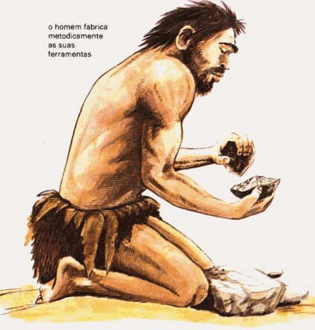 Imagem do período paleolítico