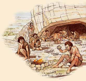 Imagem do grupo de nômades