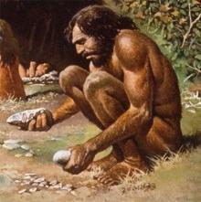 Hominídeo da Idade da Pedra