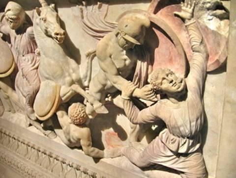 Escultura representando Alexandre