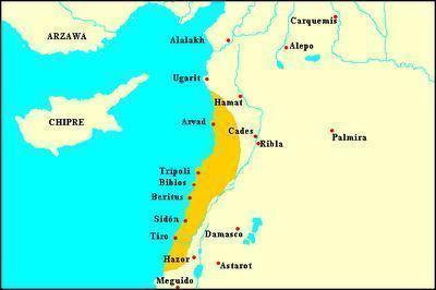Mapa - povos fenícios