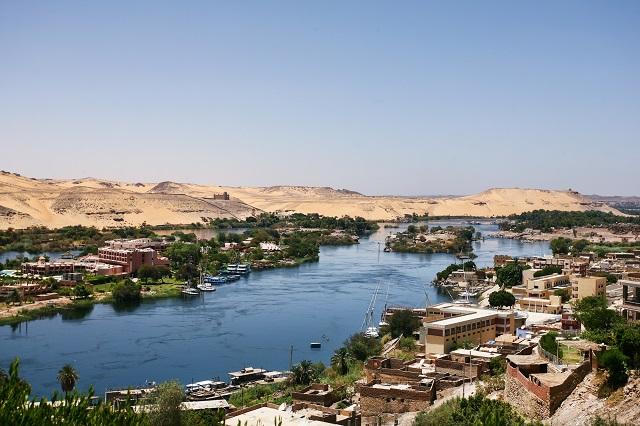 Aldeia as margens do Rio Nilo