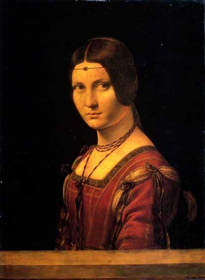 La Belle Ferronnière de Leonardo Da Vinci