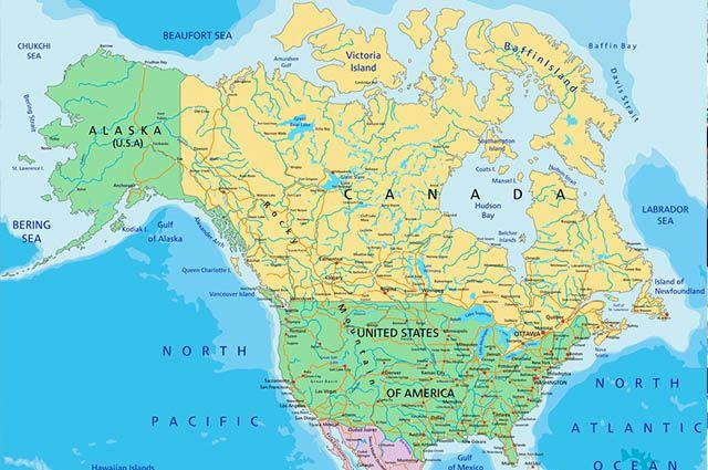 Economia do Canadá - Mapa