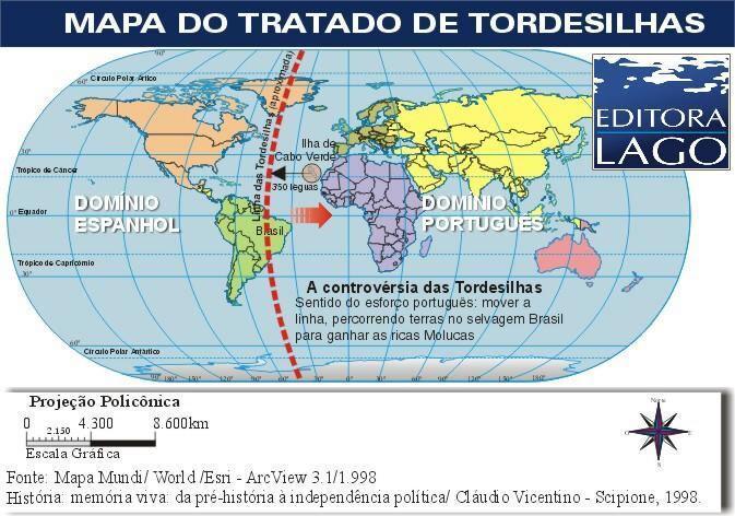 Tratado de Tordesilhas - História, mapa e Brasil