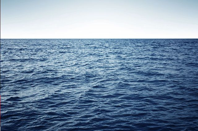 Ciclo da água na natureza - Mar