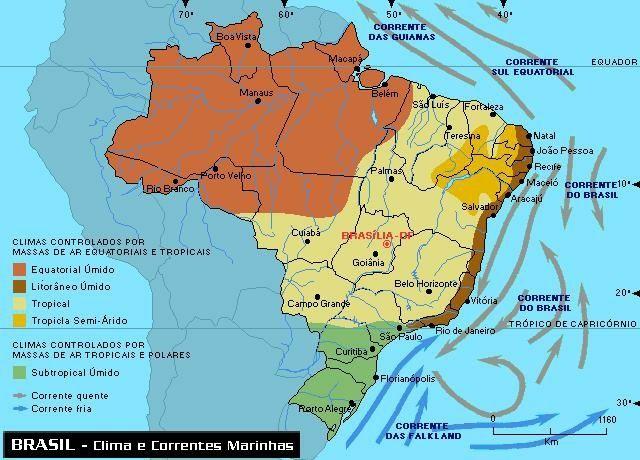 Climas do Brasil - Tipos e mapa