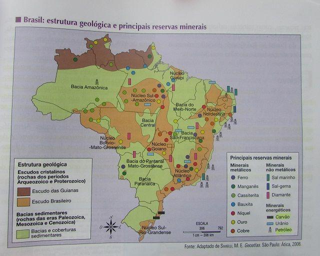 Estrutura geológica do Brasil - Escudos Cristalinos