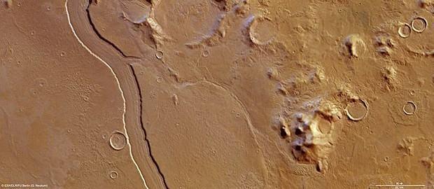 Foto tirada de Marte