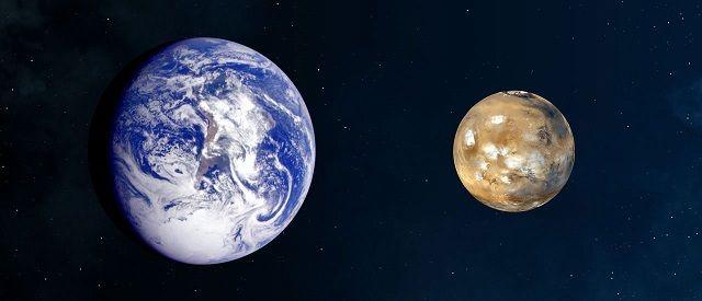 Planeta Marte - Temperatura, características e fotos - Terra e Marte