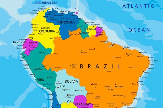 Colômbia - Economia, turismo e imagem de sua bandeira - Mapa América do Sul