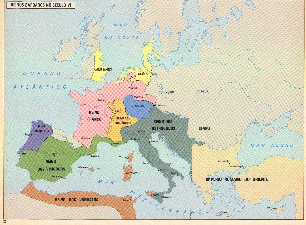 Mapa da Europa Medieval