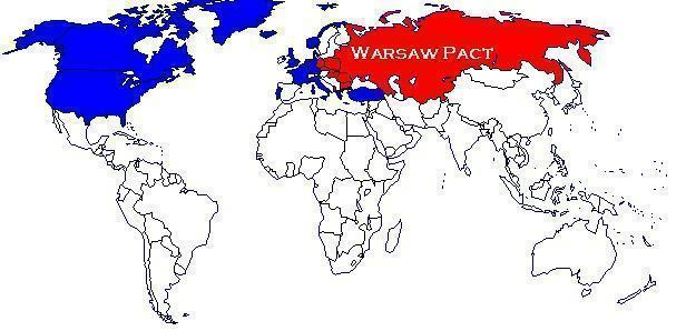 Mapa dos países do Pacto de Varsóvia