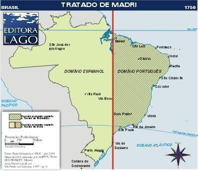Tratado de Madri - Mapa e detalhes deste acordo