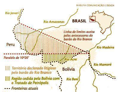 Mapa do Tratado de Petrópolis