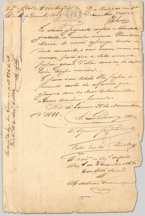 Exemplo de carta de alforria