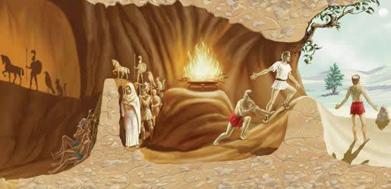 Resultado de imagem para a caverna de platão