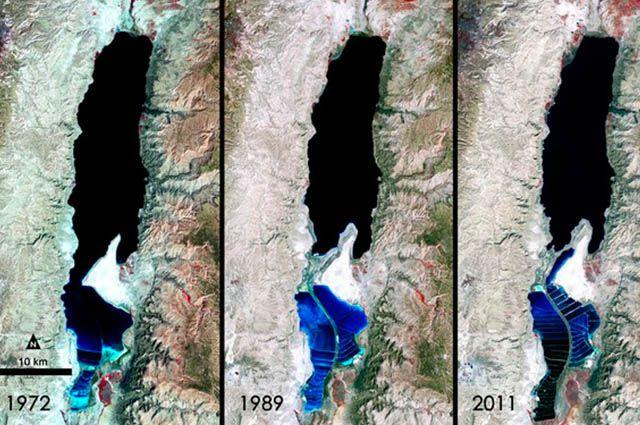 Diminuição do Mar Morto