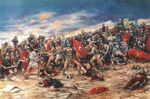 Ilustração da guerra de Espártaco
