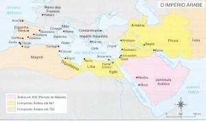Mapa do Império Árabe