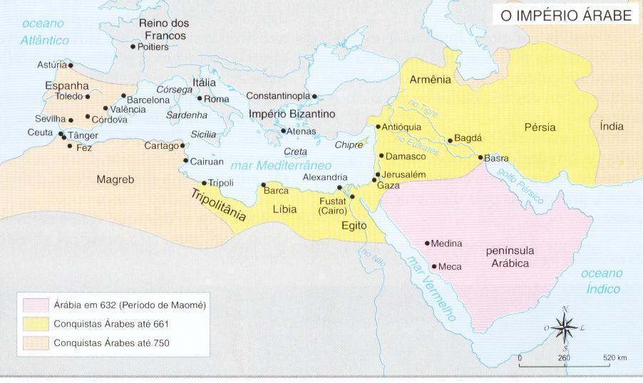 Império Árabe - História, cultura, religião e política - Estudo Prático