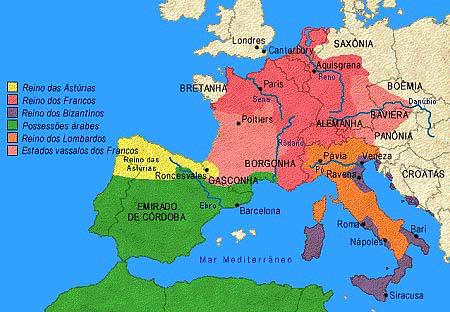 Mapa do Reino dos Francos
