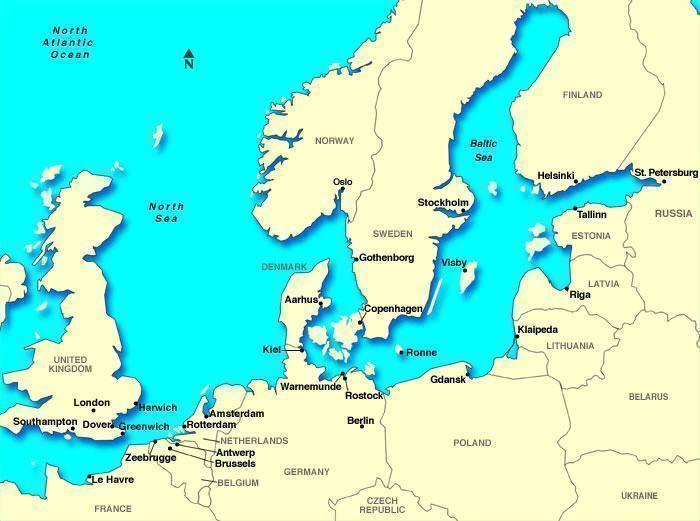 Mapa do Mar Báltico