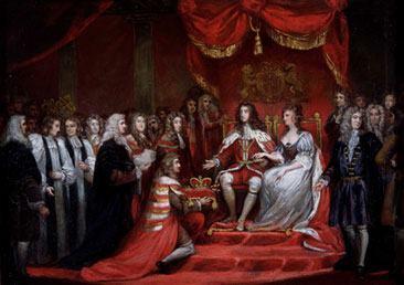 Revolução Inglesa - Coroação de Guilherme Orange