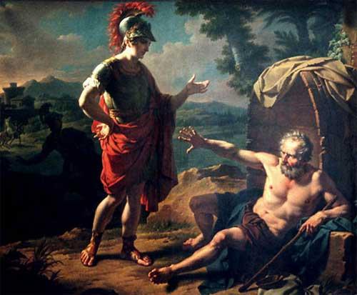 Diógenes e Alexandre da Macedônia