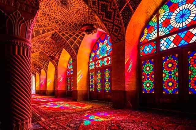 Irã: Cultura e costumes - Mesquita de Nasir-Al-Mulk