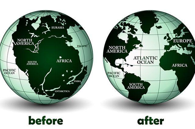 Pangeia: O mega continente - Antes e Depois