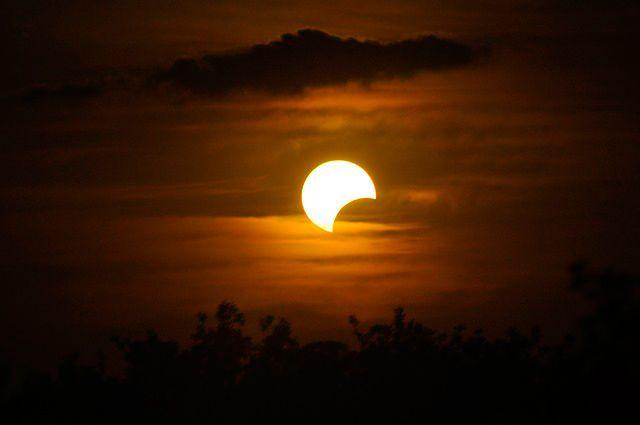 Como ocorrem os eclipses? - Eclipse Parcial