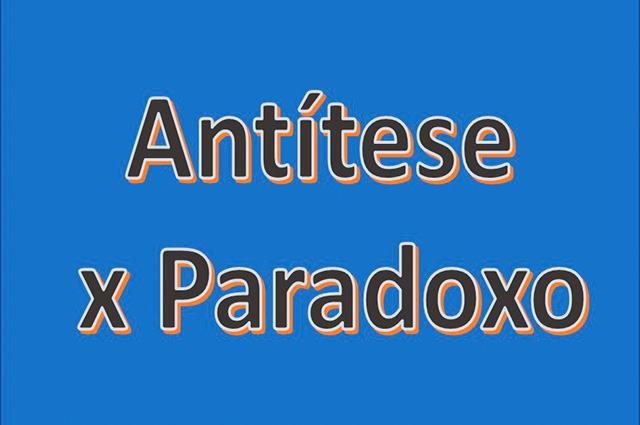 A diferença entre antítese e paradoxo