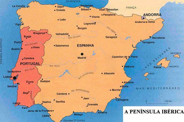 mapa da península iberica portugal e espanha Península Ibérica, a segunda maior península da Europa   Estudo  mapa da península iberica portugal e espanha