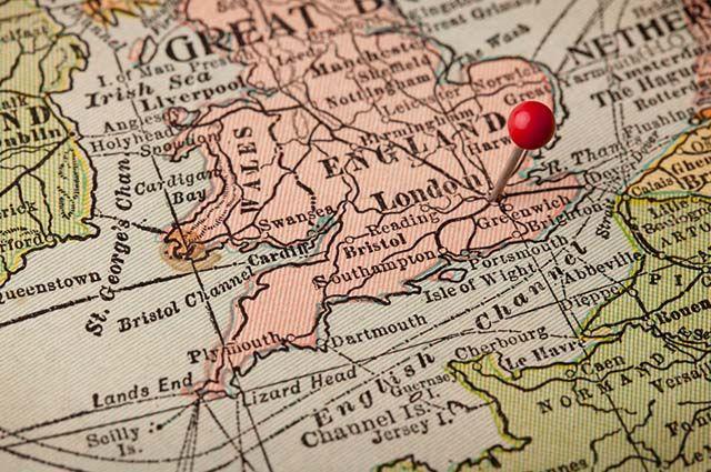 O Canal da Mancha - Mapa