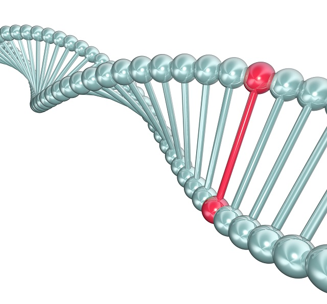 DNA strand with mutation