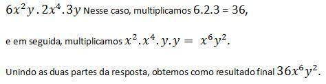 Fórmula monômios
