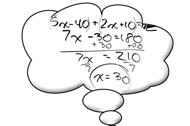 Balão com conta matemática