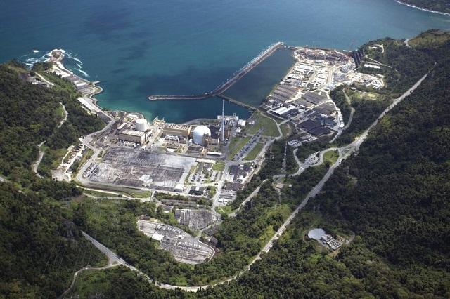 As duas usinas em atividade no país, são Angra 1 e Angra 2, no Rio de Janeiro