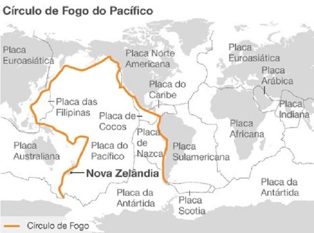 Algumas áreas do globo são mais propensas para ocorrência de fenômenos naturais