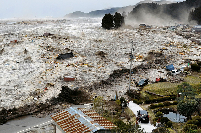 Terremoto de magnitude 8.9 na Escala Richter, foi seguido por intensas ondas