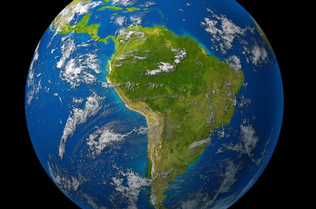 O subcontinente sul-americano é formado por doze países e três dependências