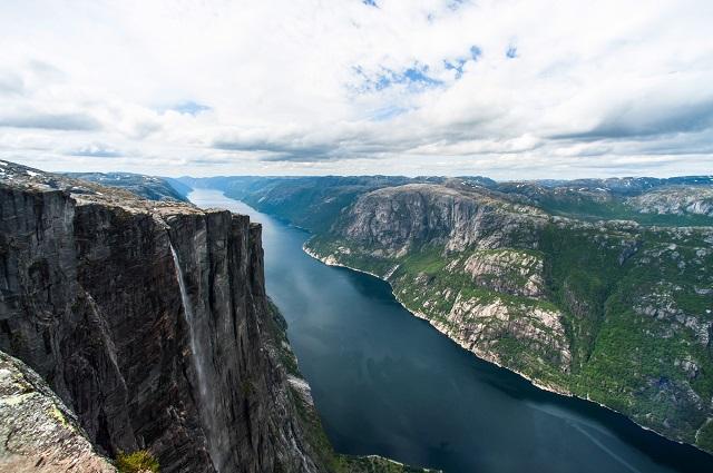 Fiorde na Noruega