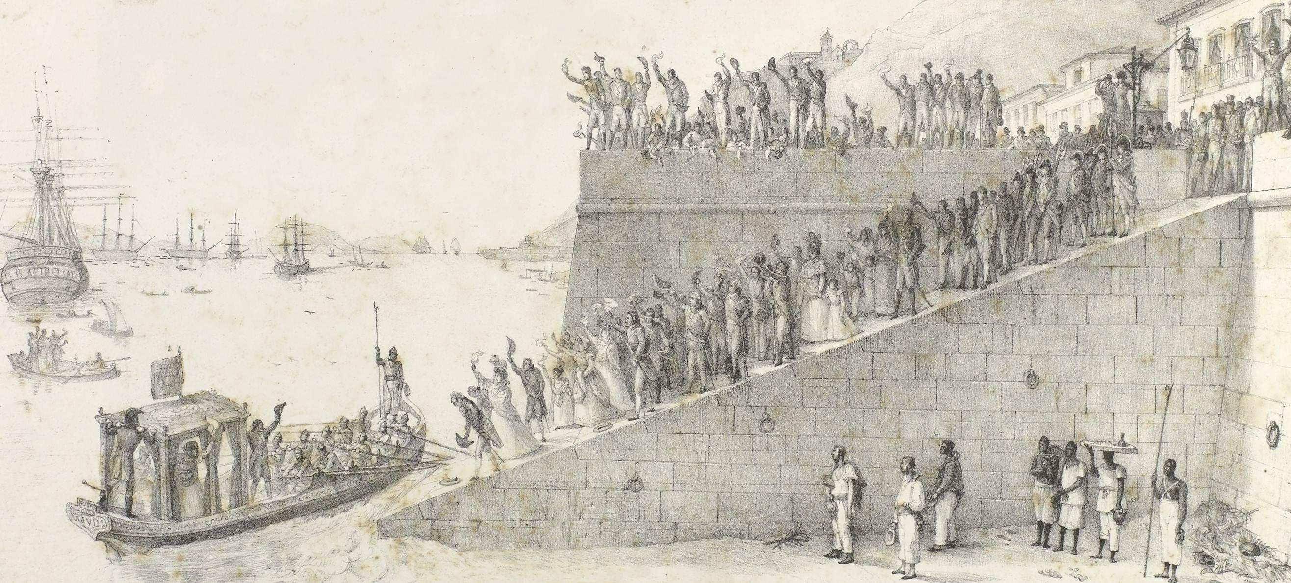 Representação do retorno de D. João VI para Lisboa.