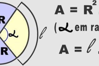 Cálculo da área do setor circular