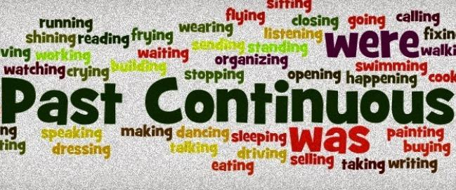 Tanto no inglês como no português,  past continuous indica uma ação passada