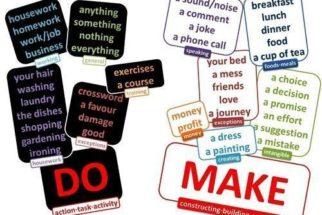 Verbos make ou do: Qual utilizar?