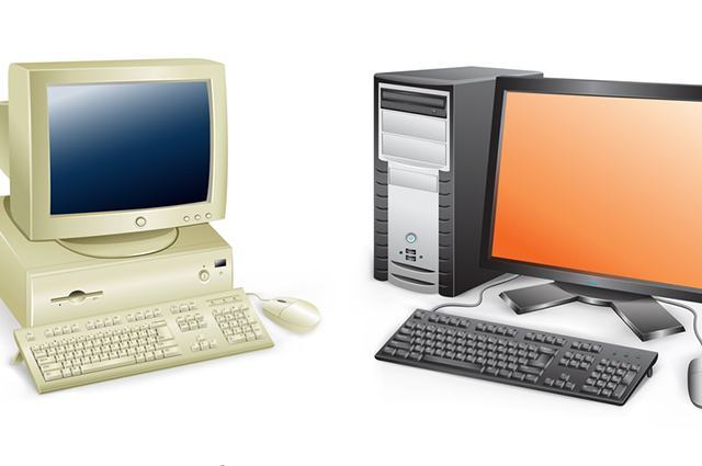 Ilustração de computadores