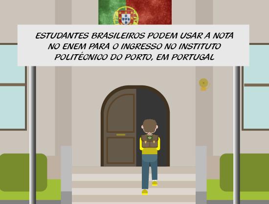 Enem: nota no exame pode dar vaga em instituto politécnico português
